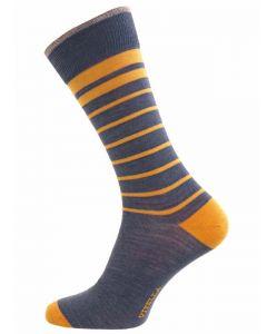 Viyella Men's Wool and Cotton Blend Socks, Limoges Blue