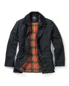 Viyella Dry Wax Millerain Men's Jacket, Navy Blue
