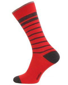 Viyella Men's Wool and Cotton Blend Socks, Poppy