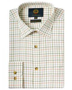 Viyella 80/20 Blend Men's Medium Lovat Tattersall Shirt