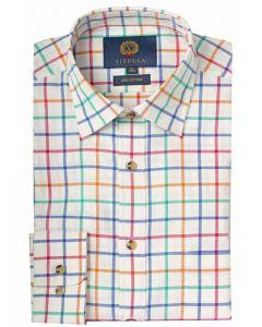 Viyella Men's Large Tattersall Shirt, Bright Check