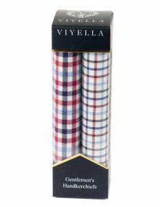 Viyella Gentlemen's Handkerchief Twin Pack, Country Quintessential