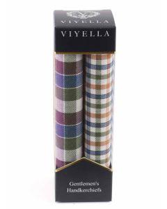 Viyella Gentlemen's Handkerchief Twin Pack, Meadow Haze