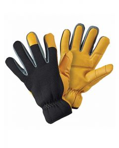 Briers Advanced Warm Lined Gardening Gloves, Black and Gold