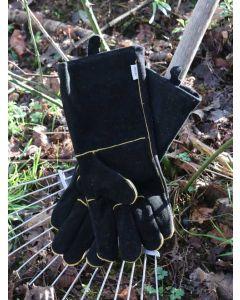 Briers Gauntlet Gardening Gloves, Black Suede