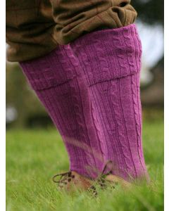 The Shooting Sock Company - The Wye Cable Knit Shooting Sock - Iris