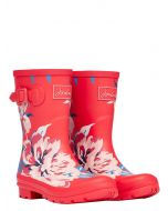 Joules Molly Welly Mid Height Printed Welly  -  Red All Over Floral | 209675