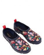 Joules Women's Pop On Welly Clog, Navy Blossom Spot 212648