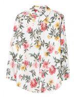 Joules Elvina Button Front Woven Shirt - Cream Floral | 212813