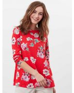 HARBOUR LIGHT SWING LONG SLEEVE JERSEY TOP | 213643 | RED FLORAL