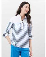 Joules Ashbrook Pop Over Deck Shirt - White Blue Stripe | 213744