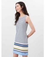 RIVA SLEEVELESS JERSEY DRESS, BLUE MULTI STRIPE | 213840