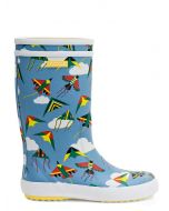 Aigle Lolly Pop Print Children's Welly Boot, Kite