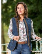 Women's Baleno Scarlet Quilted Gilet, Navy Blue