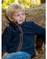Baleno Cody Children's Fleece Zip Through Jacket, Navy Blue