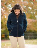 Women's Baleno Southwell Fleece Jacket with Waterproof Lining, Navy Blue