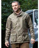 Baleno Moorland Khaki Tweed Check Waterproof Country Coat