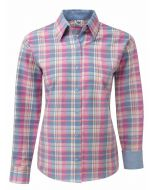 Grenouille Women's Multi Check Oxford Cotton Shirt
