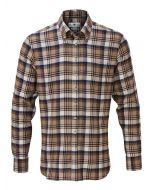 Alan Paine 'Heybridge' Men's Button-Down Shirt, Beige/Burgundy