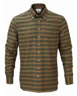 Alan Paine Tuckton Button Down Shirt, Green Check