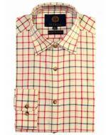 Viyella Melange 80-20 Tattersall Shirt, Colonel Mustard