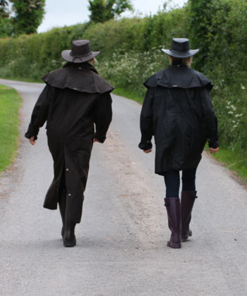 Drizabone coats walking